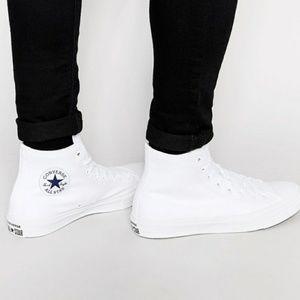 NWT Converse Chuck II 2 Hi Top White Nike Lunarlon